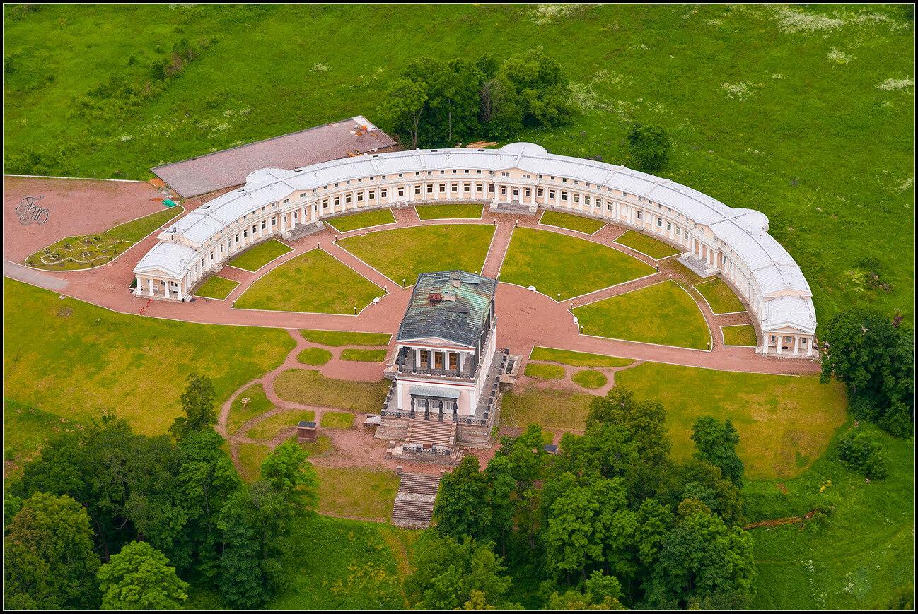 Бельведер. Вид с воздуха