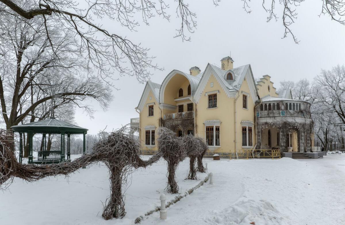 Дворец Коттедж зимой
