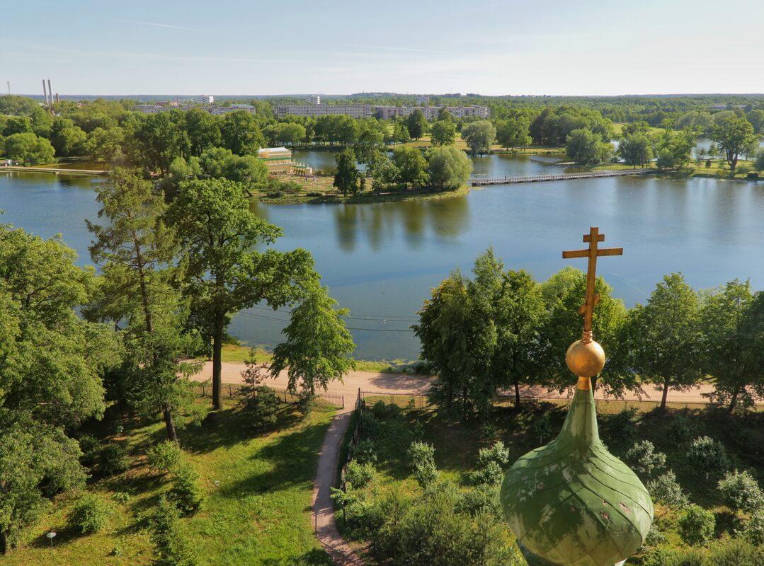 Колонистский парк с воздуха