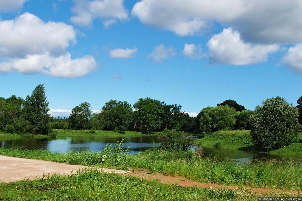 Большой круглый пруд в Луговом парке