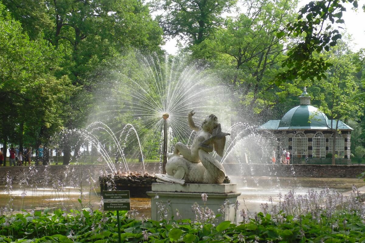 Нижний парк. Фонтан Солнце
