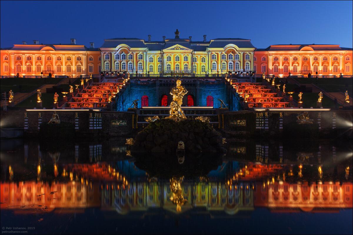 Осенний праздник света и музыки в Петергофе. Закрытие фонтанов
